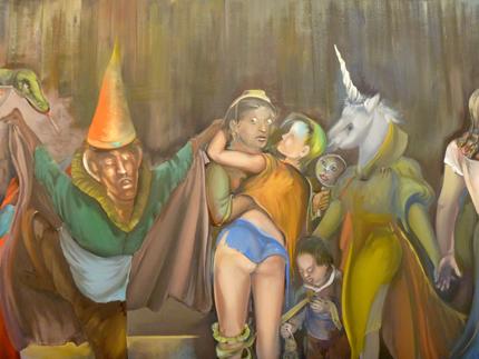 Détail d'une oeuvre de Martial Raysse à Beaubourg. Photo: Les Soirées de Paris