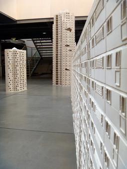 """Aspect de l'exposition """"un monde parfait"""" au Pavillon de l'Arsenal. Photo: Les Soirées de Paris"""