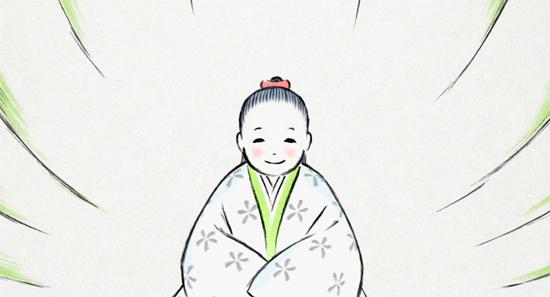 Le conte de la princesse Kaguya. Image extraite du film
