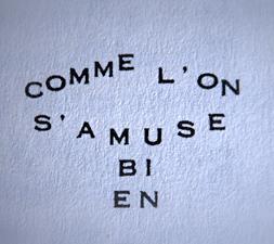 Idéogramme de Guillaume Apollinaire. Photo: Les Soirées de Paris