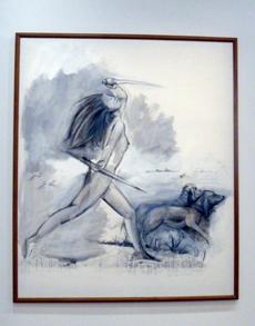 Oeuvre de Martial Raysse présentée à Beaubourg. Photo: Les Soirées de Paris