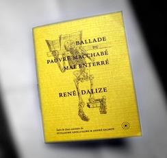 Couverture de la Ballade du pauvre Macchabé mal enterré. De René Dalize. Photo: Les Soirées de Paris