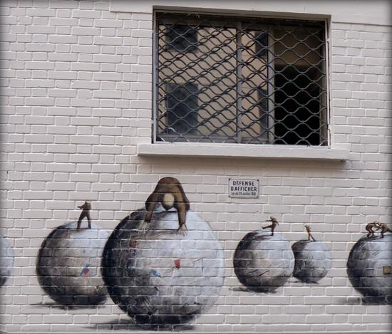 Art pariétal, rue Haxo. Photo: Les Soirées de Paris