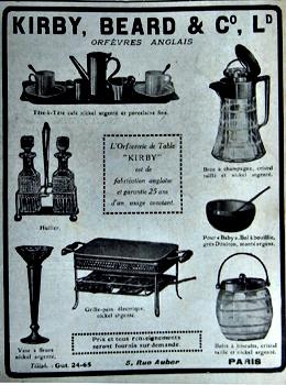 Publicité Kirby & Beard parue dans l'Illustration en septembre 1916. Photo: les Soirées de Paris