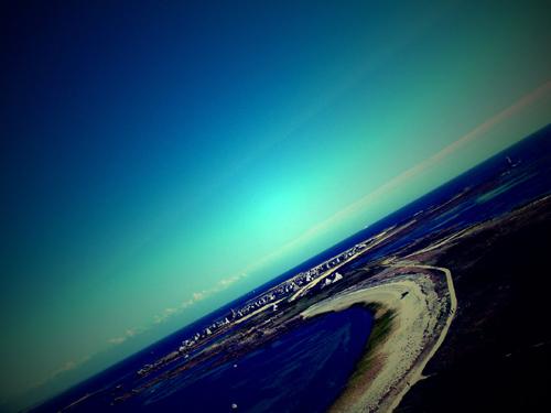 L'île de Sein vue du phare. Photo: Les Soirées de Paris