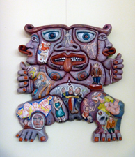 """Une des oeuvres exposées à la galerie """"d'un livre l'autre"""". Photo: Les Soirées de Paris"""
