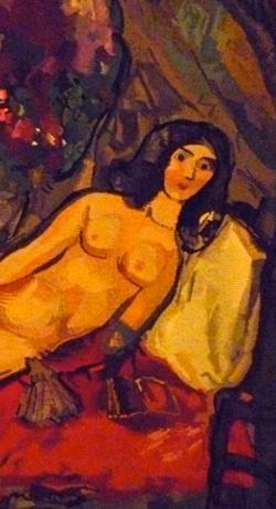 Détail d'une oeuvre tissée de Marc Chagall. Photo: LSDP