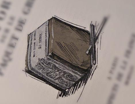 Rapport sur le paquet de Gris. Livre de Jacques Perret. Illustration d'André Collot. Photo: Les Soirées de Paris