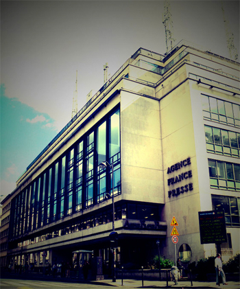 Le siège de l'AFP place de la Bourse. Photo: Les Soirées de Paris