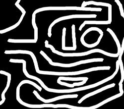 Le labyrinthe. Illustration: Les Soirées de Paris