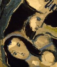 Détail d'une oeuvre de Marc Chagall. Musée d'art moderne de Troyes. Photo: Les Soirées de Paris
