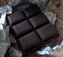Carrés de chocolat. Photo: Les Soirées de Paris