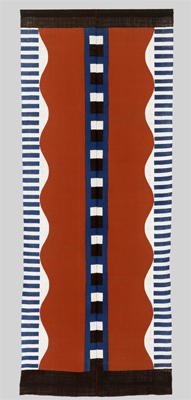 Calendrier 2008 Coton teint, 306 x 122 cm Don Samiro Yunoki, 2013 – MA 12586 © Paris, Réunion des musées nationaux - Grand Palais (musée Guimet, Paris)/ Thierry Ollivier