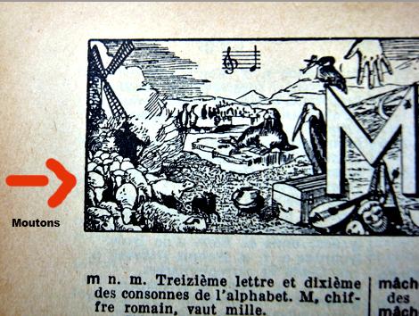 Illustration tirée d'un dictionnaire Larousse, édition 1931. Photo et arrangement: Les Soirées de Paris