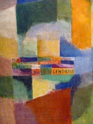 Détail d'une oeuvre de Sonia Delaunay exposée au Musée d'Art moderne. Photo: Les Soirées de Paris