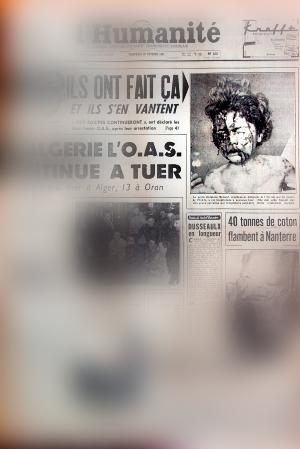Delphine Renard en couverture de L'Humanité. Arrangement image: Les Soirées de Paris