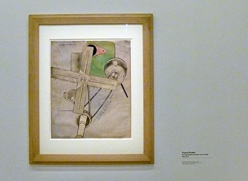 Portrait de Marie Laurencin. Oeuvre de Francis Picabia au centre Pompidou. Photo: Les Soirées de Paris