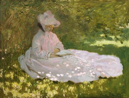 Claude Monet La Liseuse 1872 Huile sur toile, 50 x 65 cm Baltimore, The Walters Art Museum  © The Walters Art Museum, Baltimore