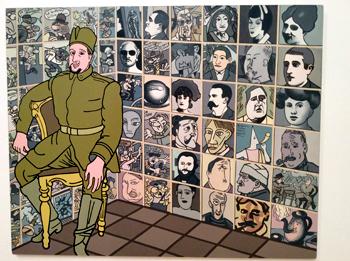 """Apollinaire"". Erró. 1979. Photo: Valérie Maillard"