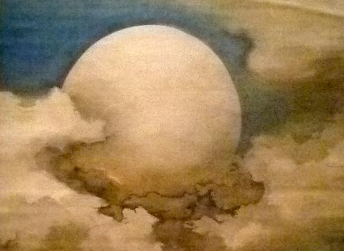 """Détail de """"La lune dans les nuages"""" par Suzuki Shönen. Photo: Les Soirées de Paris"""