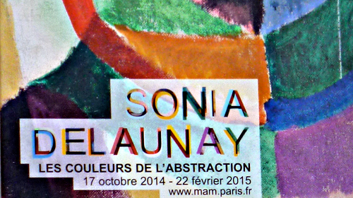 Expo Sonia Delaunay, détail de l'affiche. Photo: LSDP