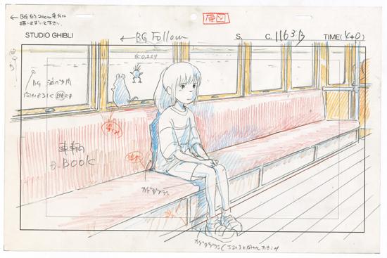 """Un """"layout"""" du voyage de Chihiro. Source image: Art Ludique Le Musée"""