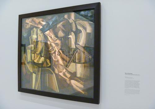 """""""Le roi et la reine entourés de nus vites."""" Oeuvre de Marcel Duchamp. Photo: Les Soirées de Paris"""