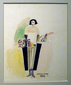 La robe-poème par Sonia Delaunay. Photo: Les Soirées de Paris