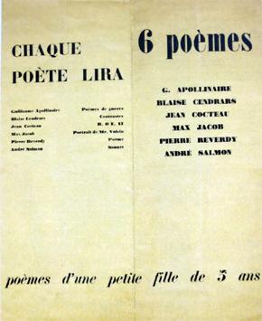 Le programme de la mythique soirée littéraire du 26 novembre 1916. Photo: Gérard Goutierre
