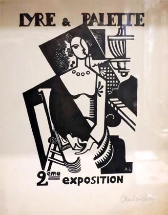 Illustration d'André Lhote pour une exposition de janvier-février 1917. Photo: Gérard Goutierre