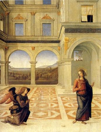Le Pérugin. L'annonciation (vers 1498). Collection privée