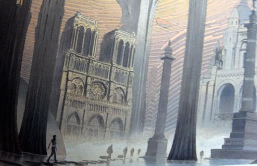 """détail d'une illustration de l'album """"Revoir Paris"""". Photo: LSDP"""