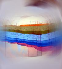 Photo stylisée d'une coupe du Bassin Parisien. Photo: LSDP. Source image: AGBP.
