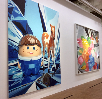 """Boy with pony"". Aspect de l'exposition Jeff Koons. Photo: Valérie Maillard"