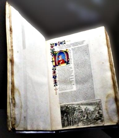 Première édition de la Comédie de Dante. Photo: Guillemette de Fos
