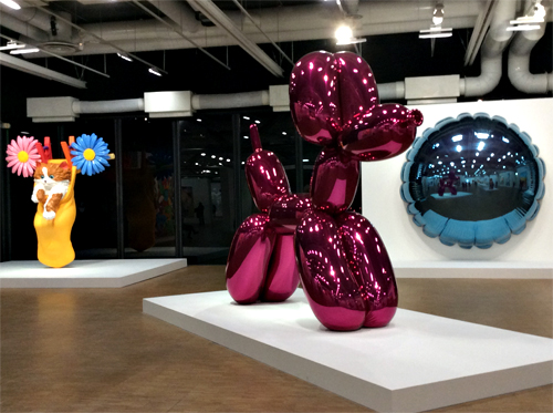 Aspect de l'exposition Jeff Koons. Photo: Valérie Maillard