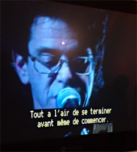 Lou Reed sur écran. Aspect de l'exposition sur Andy Warhol au MAC de Marseille. Photo: Valérie Maillard