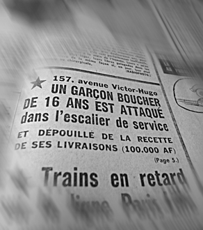 Dans le Parisien Libéré du 20 mars 1968. photo: LSDP