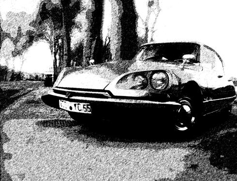 Une DS Citroën. Photo: LSDP