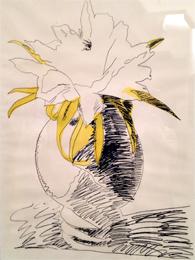 Un dessin d'Andy Warhol. Collection Eugenio Falcioni. Photo: Valérie Maillard