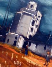 """""""Le silo"""" détail. Maurice de Vlaminck. Photo: Les Soirées de Paris"""