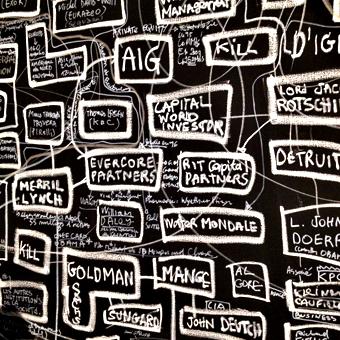 Exposition Denis Robert à la galerie W. Photo: LSDP
