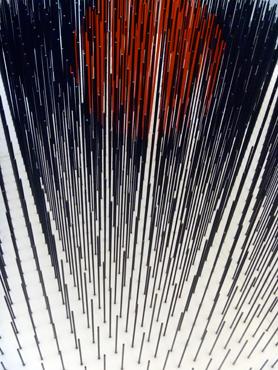 Détail d'une oeuvre de Jesus Rafael Soto. Photo: LSDP