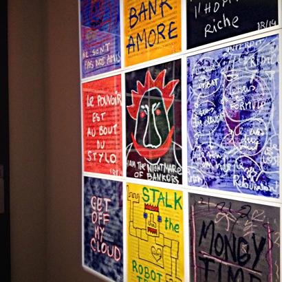 aspect de l'exposition Denis Robert à la galerie W. Photo: LSDP
