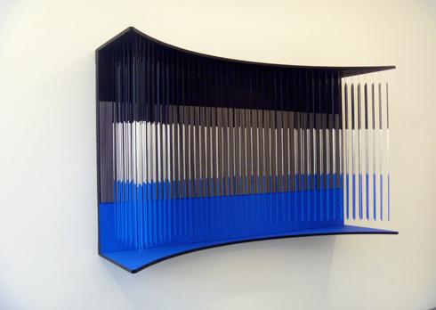 """Muro azul, negro y plata"". Oeuvre de Jesus Rafael Soto. Photo: LSDP"