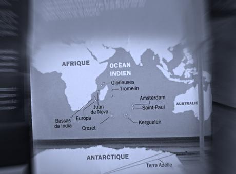 La carte des Taaf présentée à l'exposition. Photo: LSDP