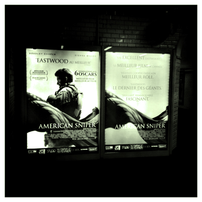 "La promo ""American sniper"" dans le métro. Photo: LSDP"