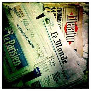 La presse. Photo: LSDP