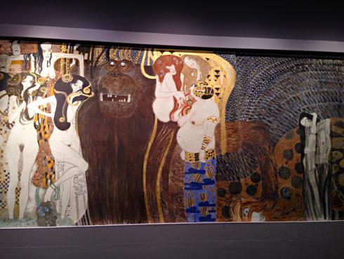 "Klimt. ""La frise Beethoven"". Photo: Valérie Maillard"