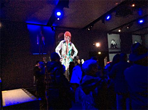 Aspect de l'exposition Bowie à la Philharmonie. Photo: Valérie Maillard